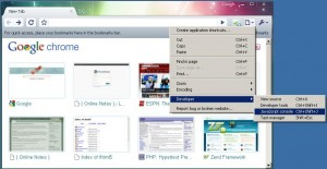 Figure 1.0 - Chrome Developer Tools